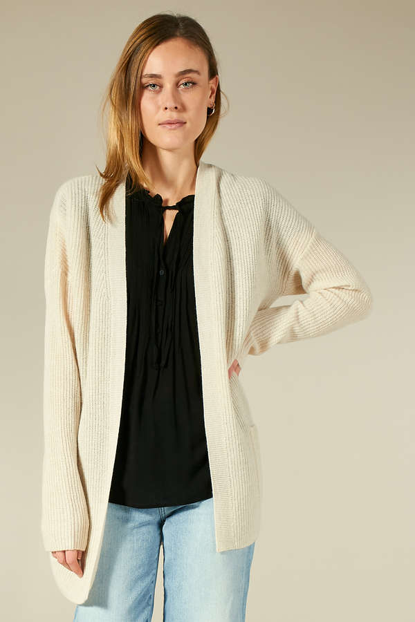 Long-Cardigan aus Cashmere